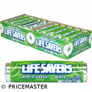 LIFESAVERS wintergreen roll